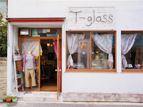T-glass店内